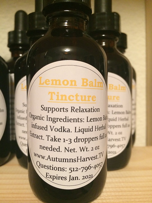 Lemon Balm Tincture - 2 oz Vodka Infusion