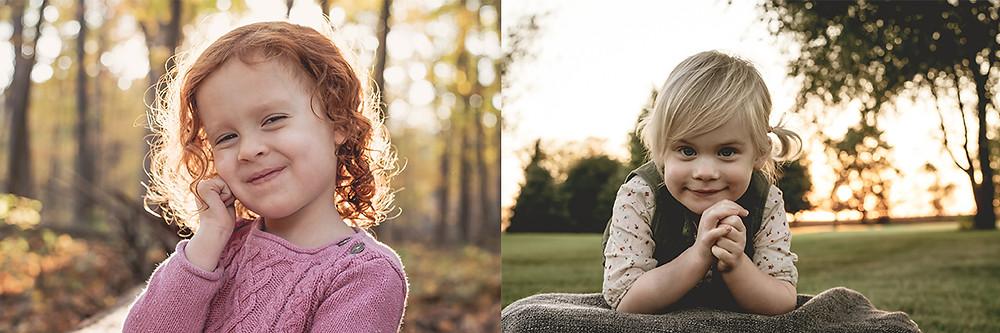 FALL SUNSET CHILD PORTRAITS