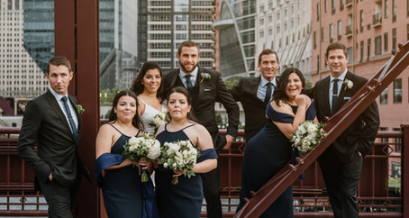 Chicago Rooftop Wedding of Brian + Diana