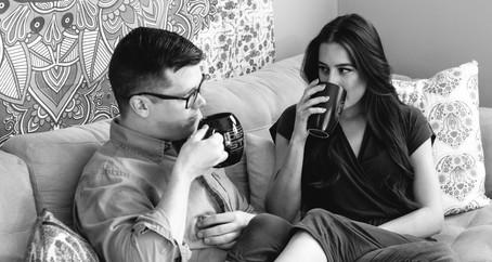 Kristen + Travis's Woodstock In-Home Engagement