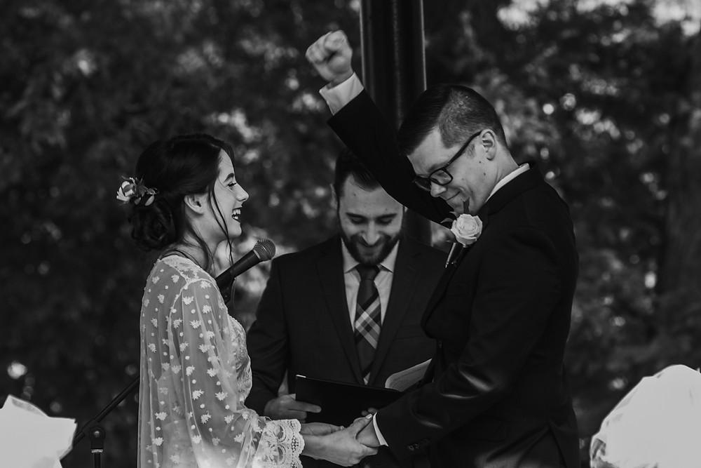 Wedding Ceremony in Woodstock,Il Historic Woodstock Square