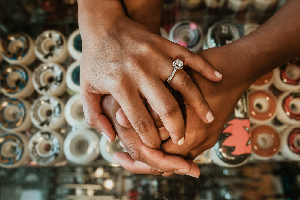 Nikki + Kurt's Chicago Engagement Session at Uprise Skateshop
