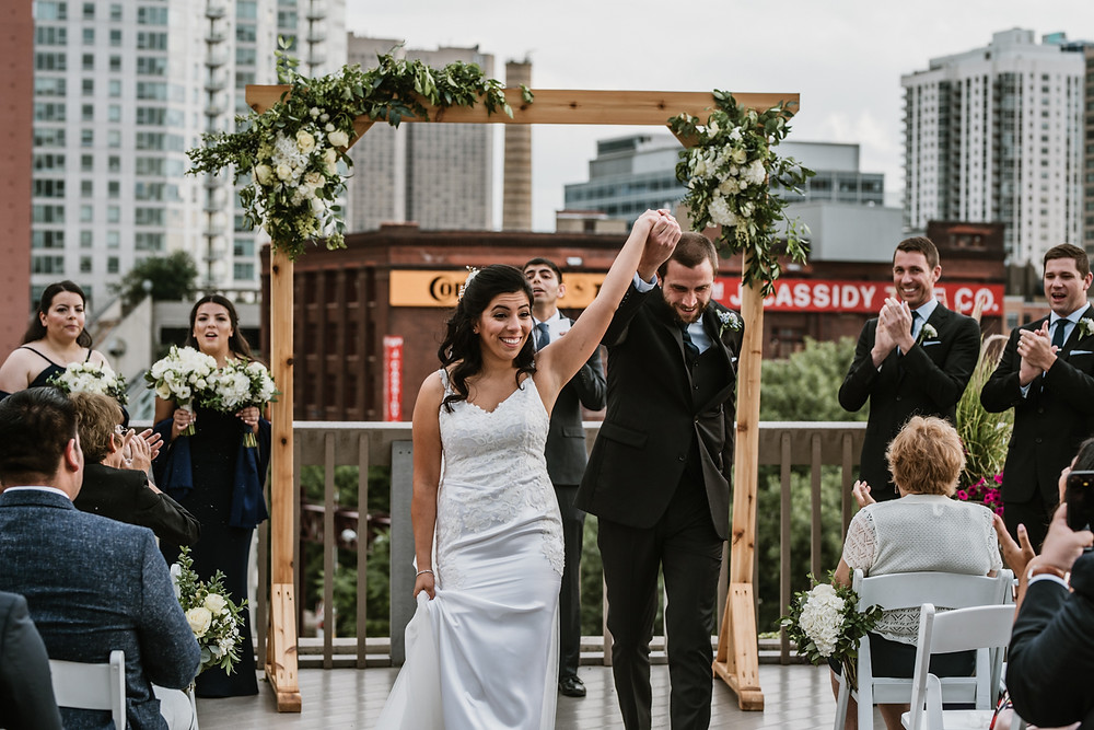 Saying 'I Do' on the rooftop of the East Bank Club in Chicago