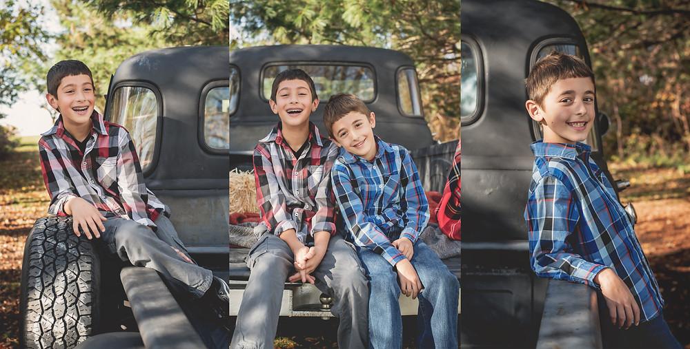 Fall Vintage Truck Child Portraits