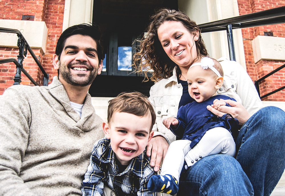 Fall Family Street Portrait