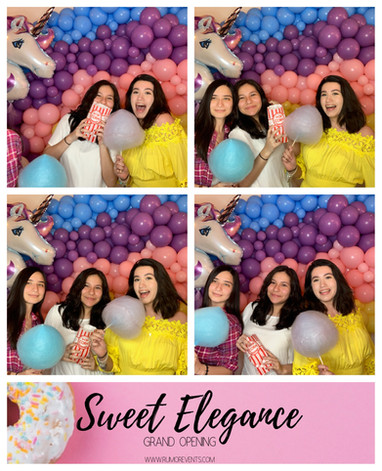 Sweet elegance Grand Opening photobooth