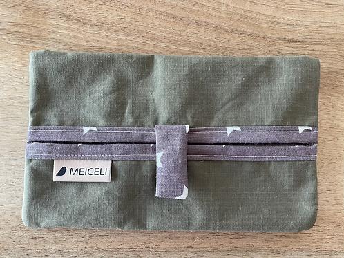 Oilskin olivegrün und violett