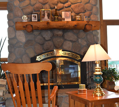 fireplace seating area that has not been staged