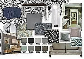 Photo of a Interior Design Board