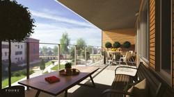 Begonian Balkong Våning 3 Hus 1