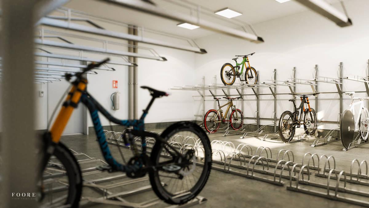 Begonian hus 3 cykel förrråd