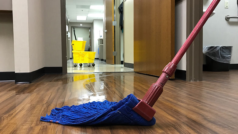 Janitors cleaning mop bucket and mop.jpg