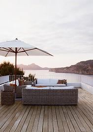 Terrassenmöbel modernes Deck