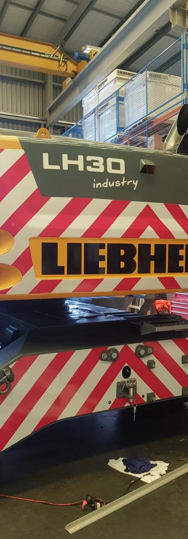 Liebherr Crane Safety Signage