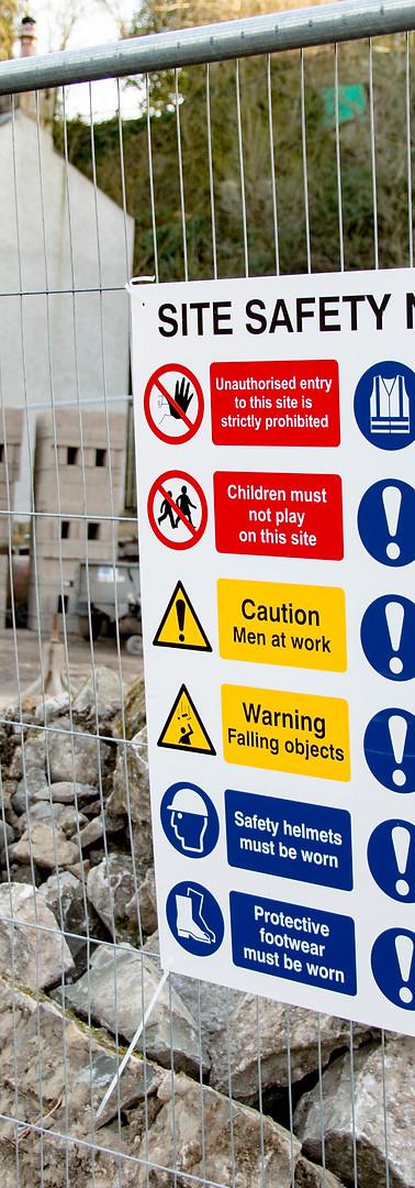 Fence Safety Signage