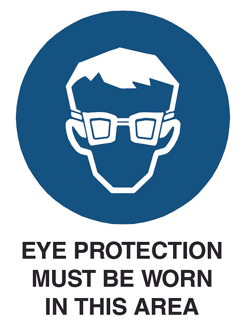 Eye Protection Health and Safety Sign