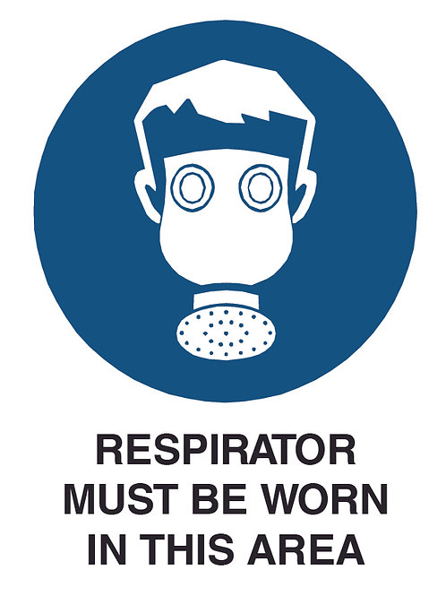 Respirator Health and Safety Sign