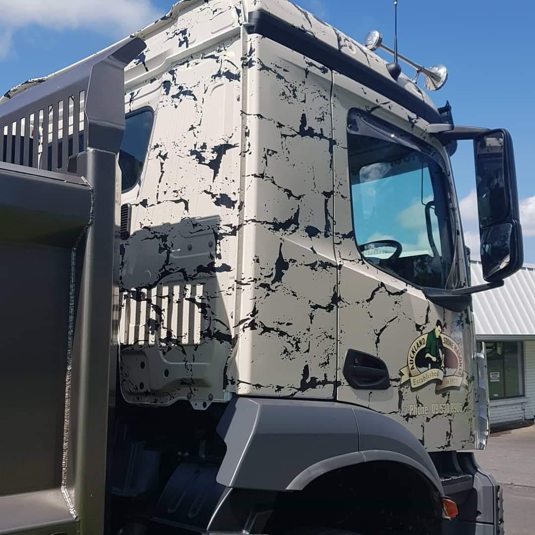 Auckland Stonemasons Truck Cab Wrap