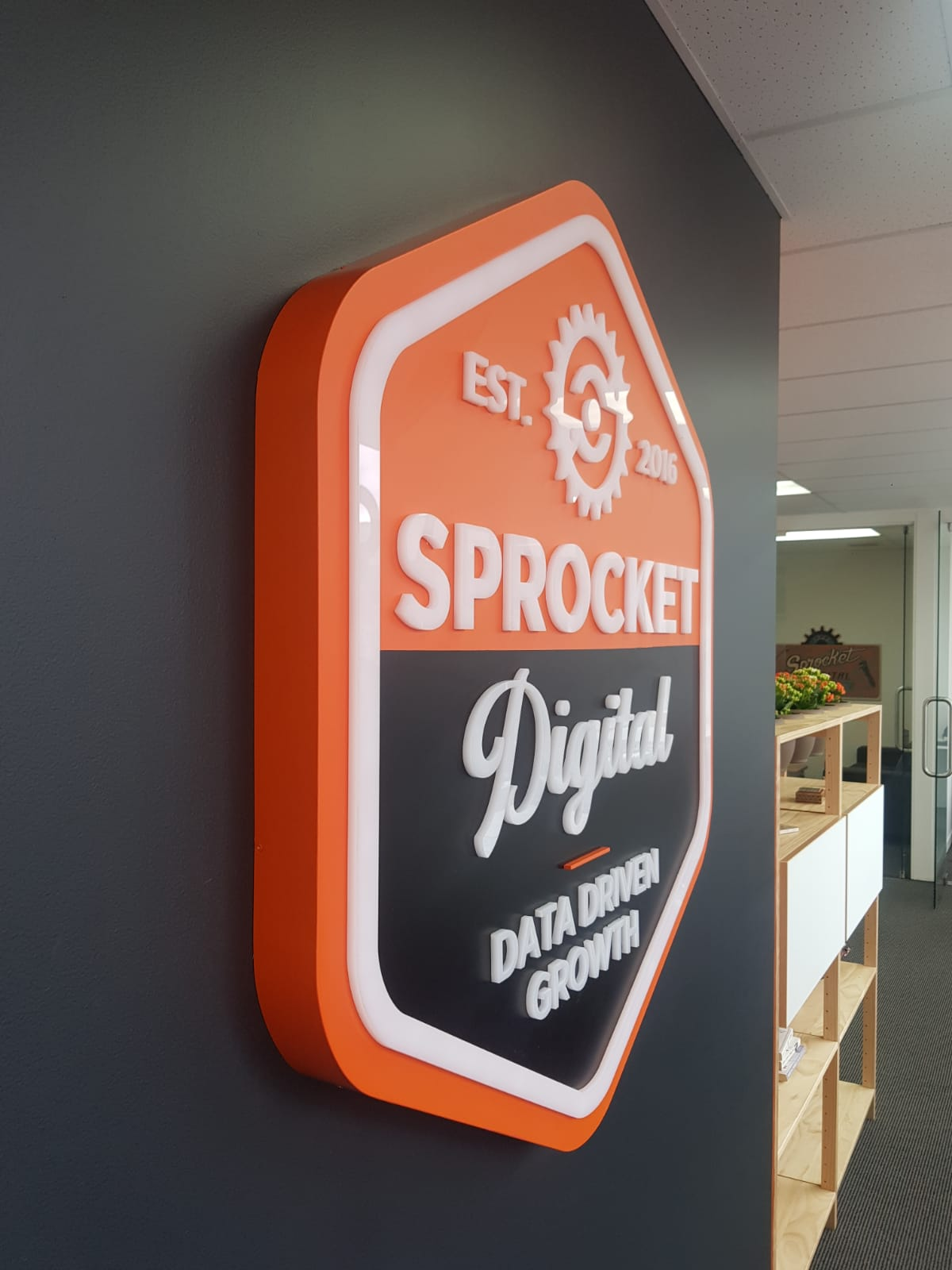Sprocket Digital 3D Wall Sign