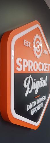 Sprocket Digital 3D Wall Sign