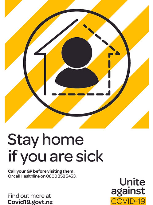 Stay at Home Sticker or Sign