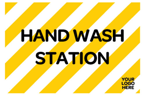 Hand Wash Station Site Sign