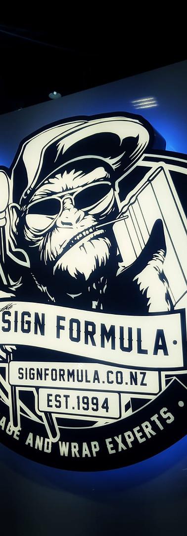 Sign Formula Fabricated Lightbox