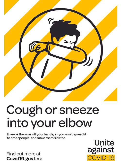 Cough or Sneeze Sticker or Sign
