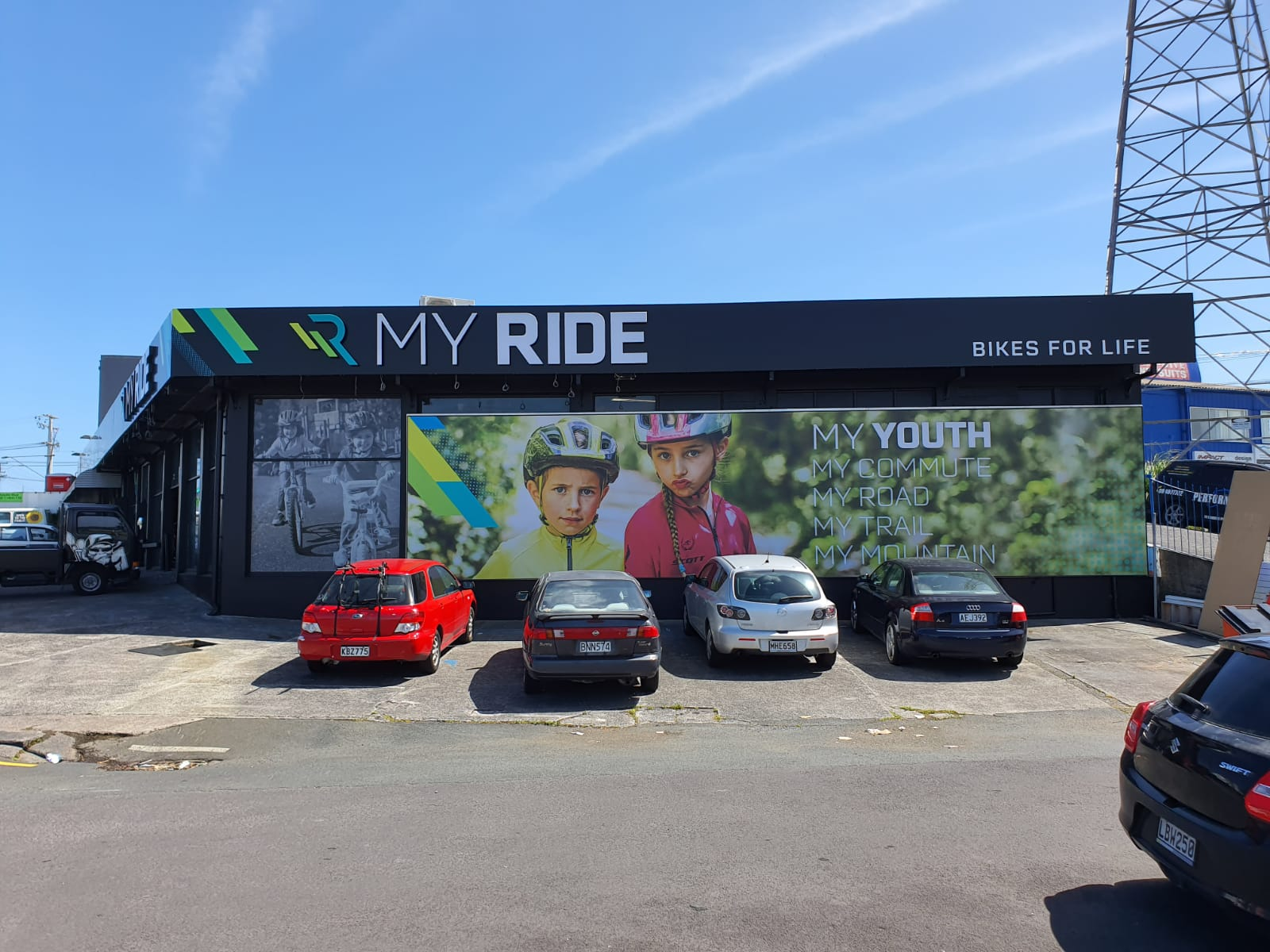 Myride Takapuna Billboard and Illuminate