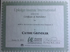 Upledger Institute Certificate, Cathie Grindler , Advanced 3