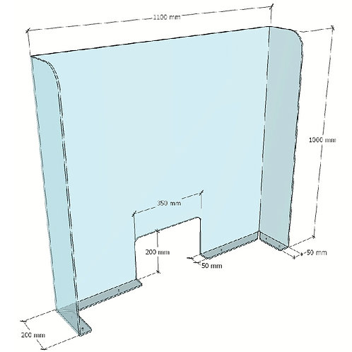 Clear Acrylic Counter Screens