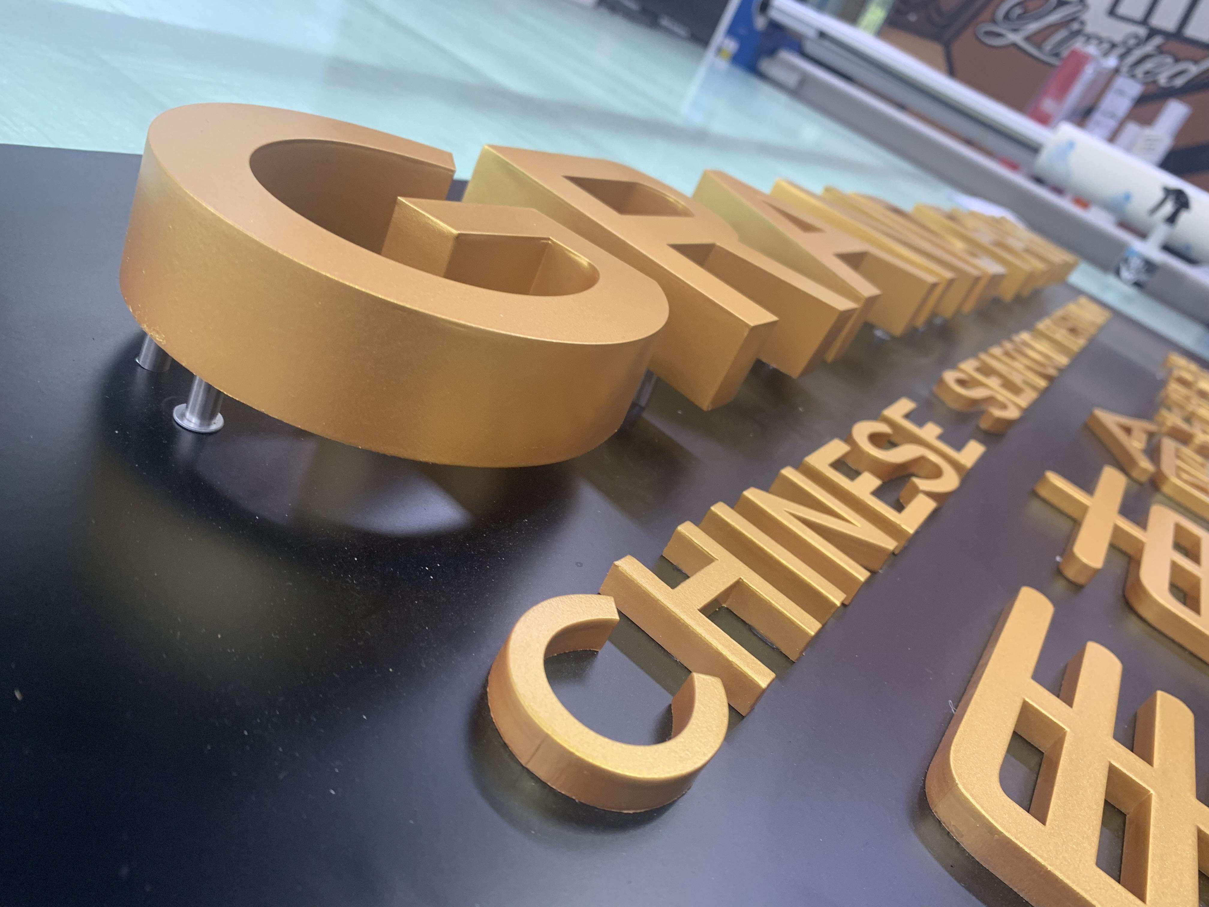 3D Halo LED letters