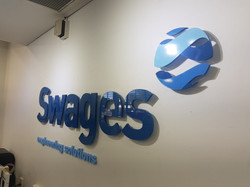 Swages Engineering Reception Signage