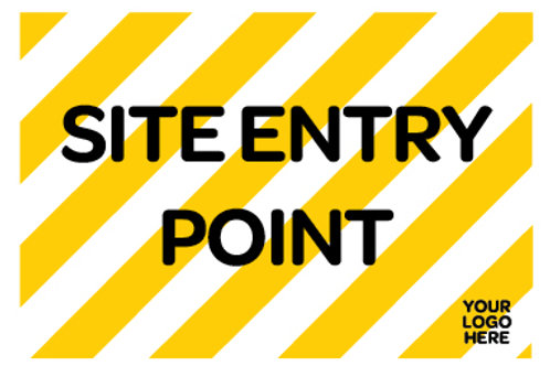 Site Entry Point Site Sign