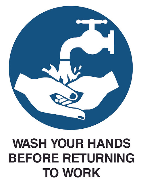 Wash your Hands Health and Safety Sign