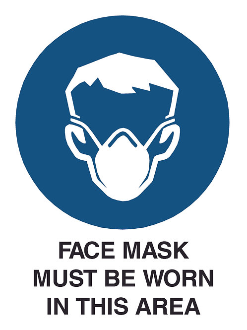 Face Mask Health and Safety Sign