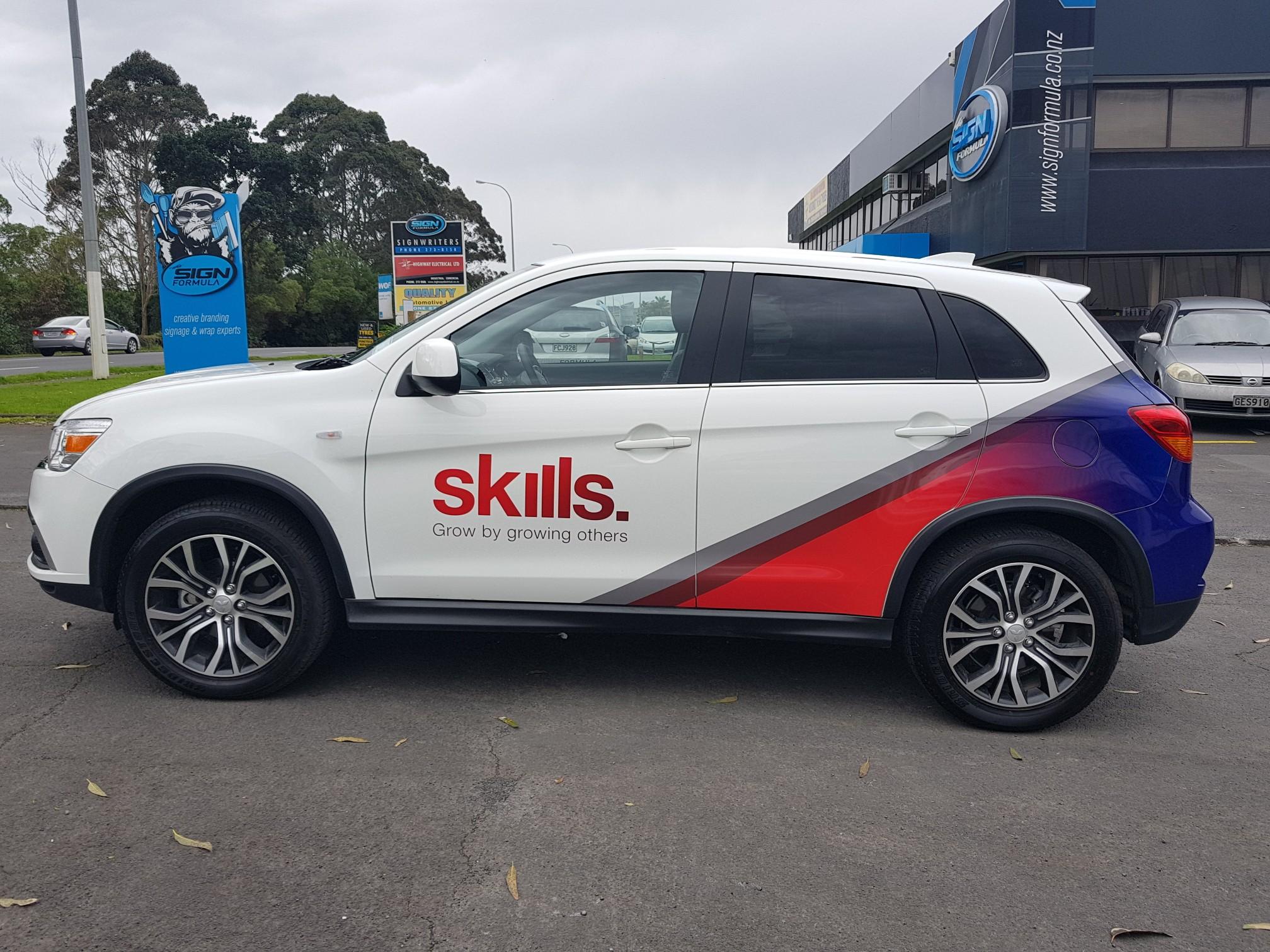 Skills car side