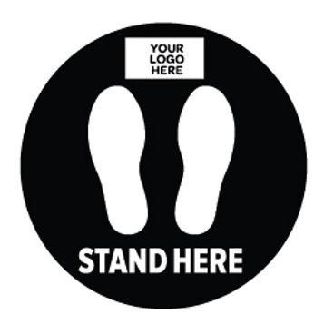 Social Distancing Floor Stickers -Circle