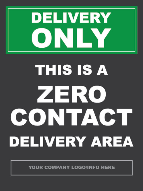 Delivery Only Covid-19 Site Sign