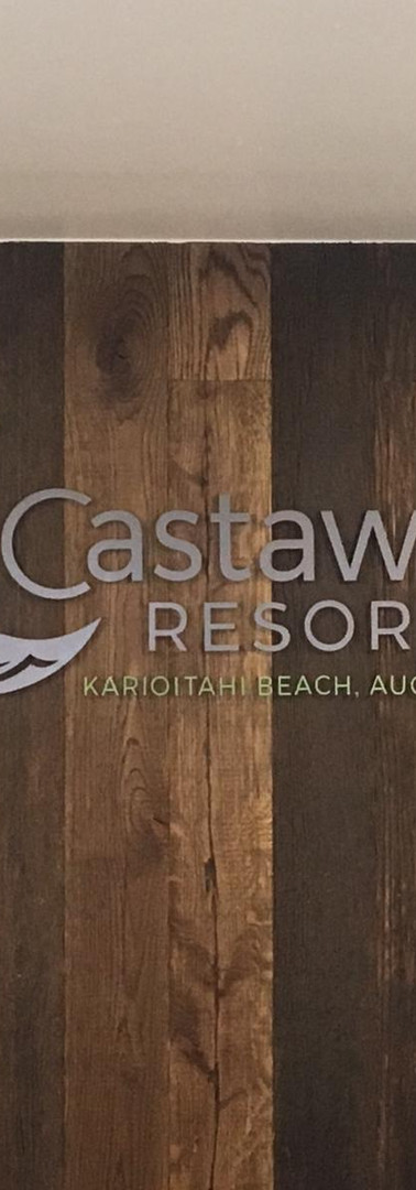 Castaways Resort 3D Wall letters