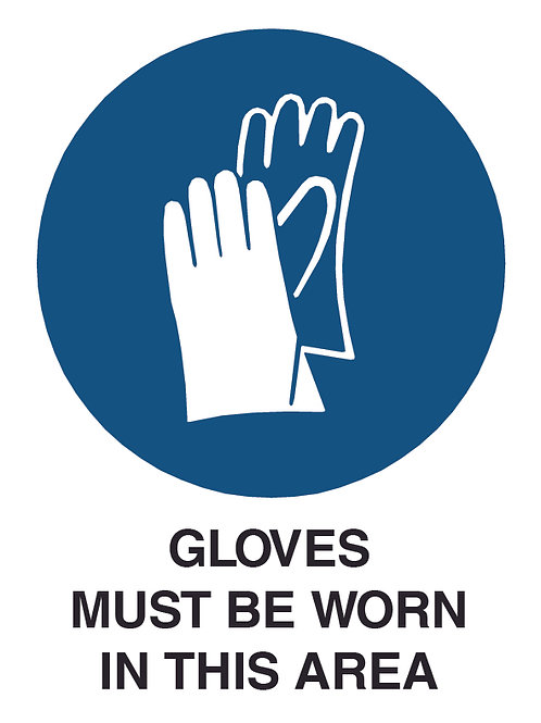 Gloves Health and Safety Sign