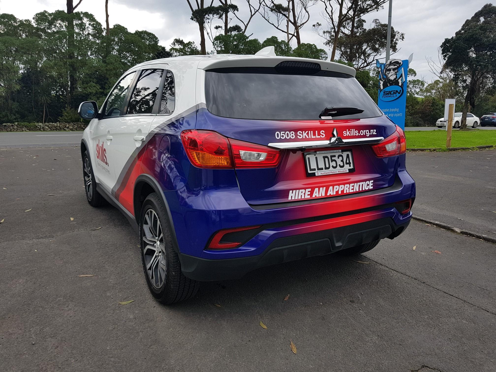 Skills car back