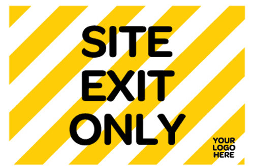 Site Exit Only Site Sign