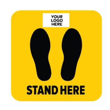 Social Distancing Floor Stickers -Square