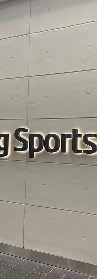 Stirling Sports 3D Halo signage