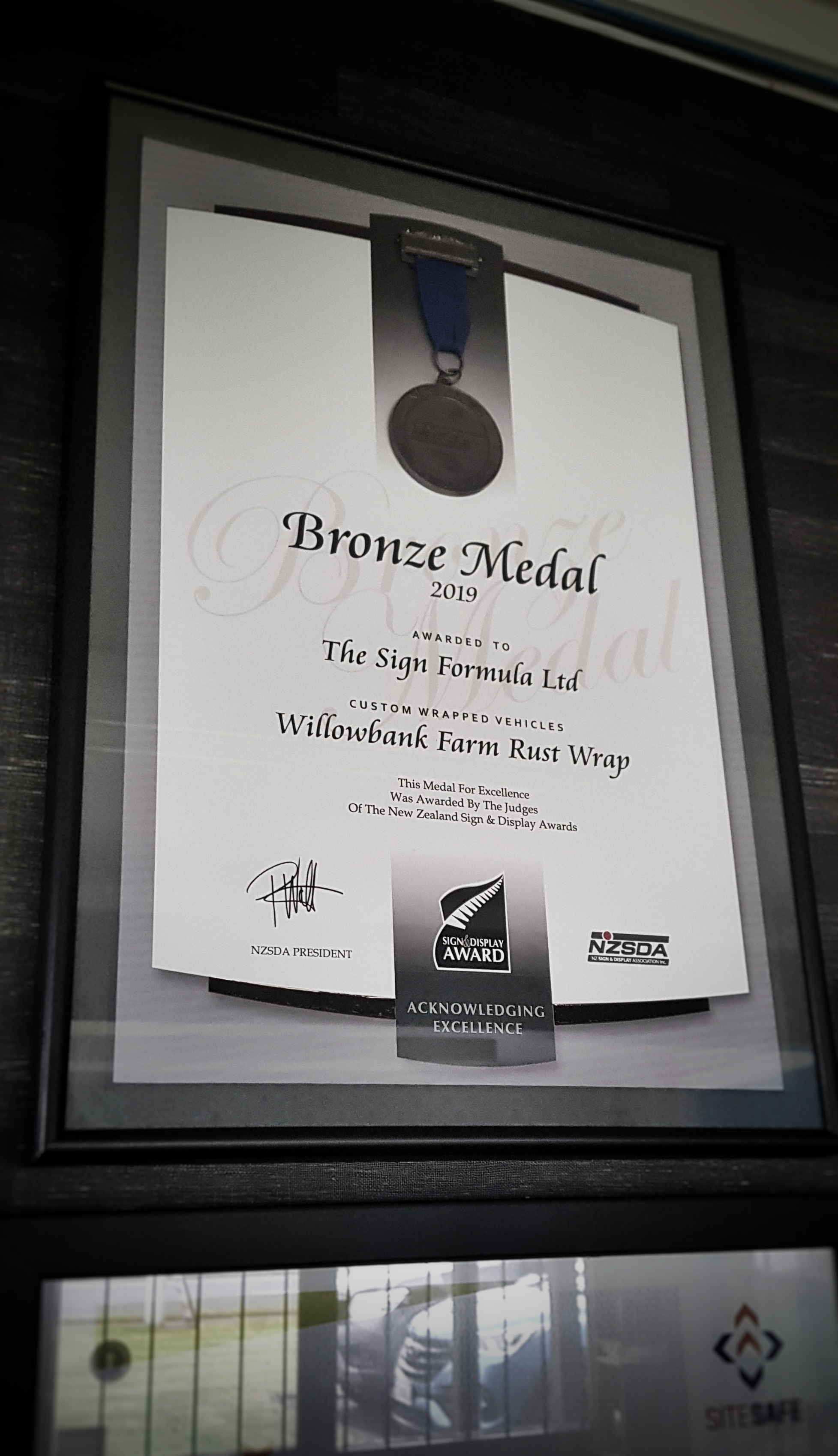 Bronze Medal - NZSDA Awards