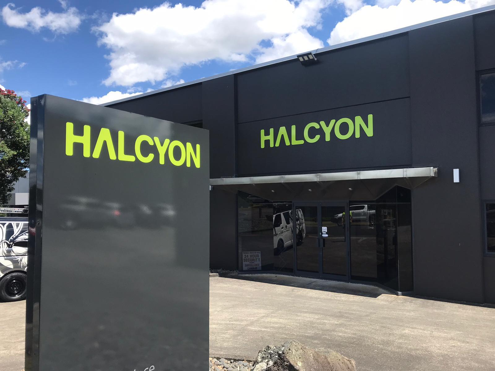 Halcyon signage