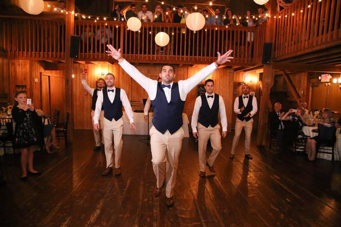 Unique Bridal Party Entrance!