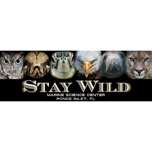 10 x 3 Inch Stay Wild Bumper Sticker