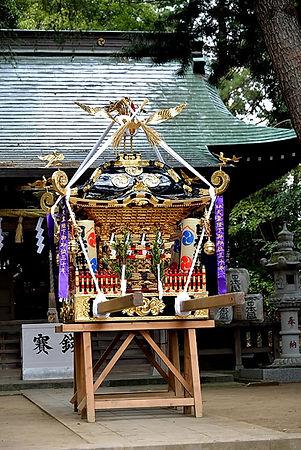 修復された中原日枝神社神輿